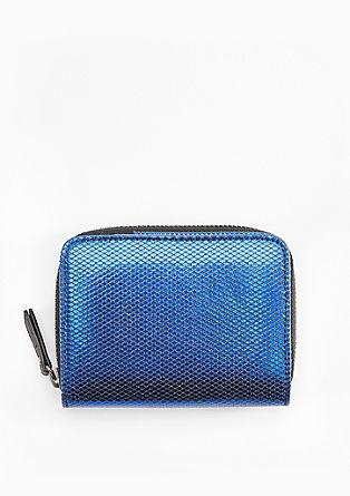 Zip Wallet in Glanz-Optik
