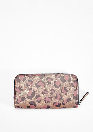 Zip Wallet mit Animal-Print