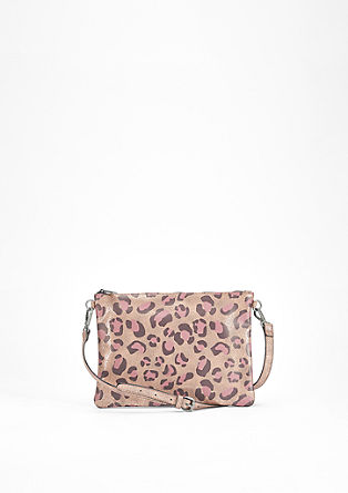 Clutch mit Animal-Print