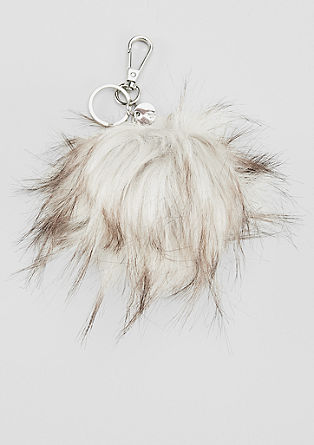 Faux fur key ring from s.Oliver