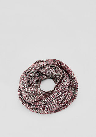 Knitted snood with a metallic effect from s.Oliver