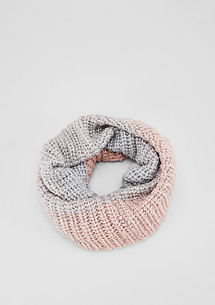 Strick-Snood mit Glitzergarn
