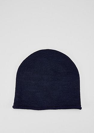 Leichte Mütze aus Feinstrick