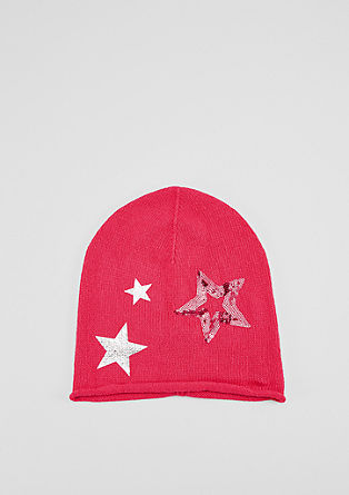 Beanie with glittery stars from s.Oliver