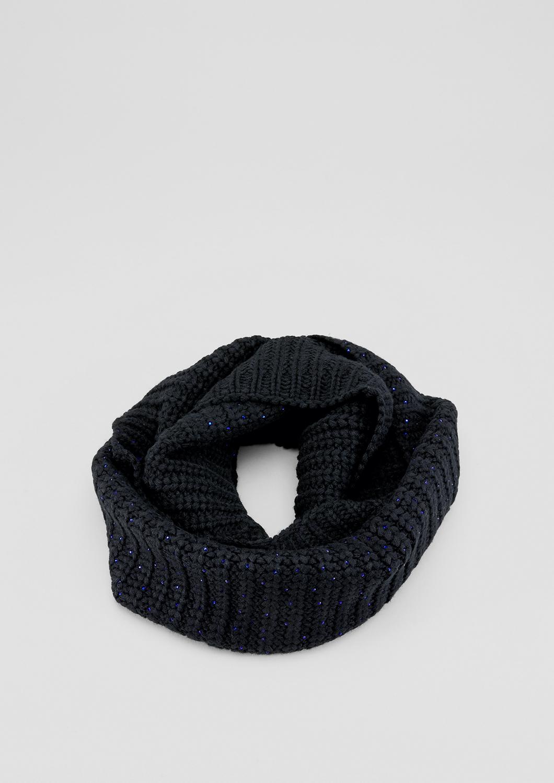 Strick-Loop | Accessoires > Schals & Tücher > Loops | Grau/schwarz | 85% polyacryl -  15% wolle | s.Oliver