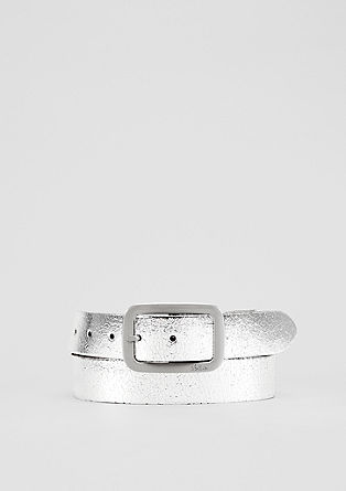 Leather belt in a metallic look from s.Oliver