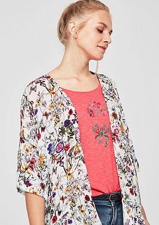 Blazer in blousestijl van crêpe