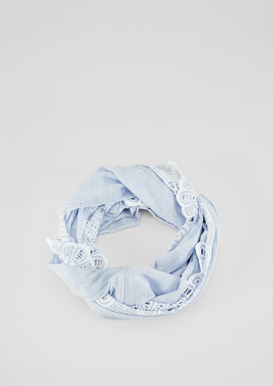 Embroidery-Loop | Accessoires > Schals & Tücher > Loops | Blau | 100% baumwolle | s.Oliver