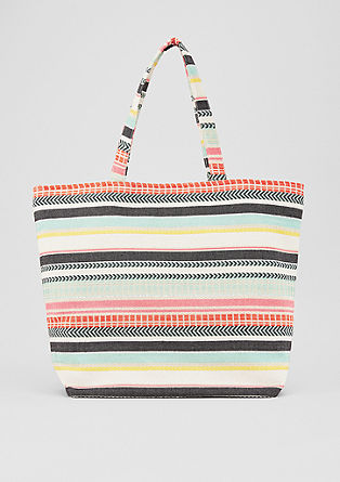 Roomy beach bag in jacquard from s.Oliver