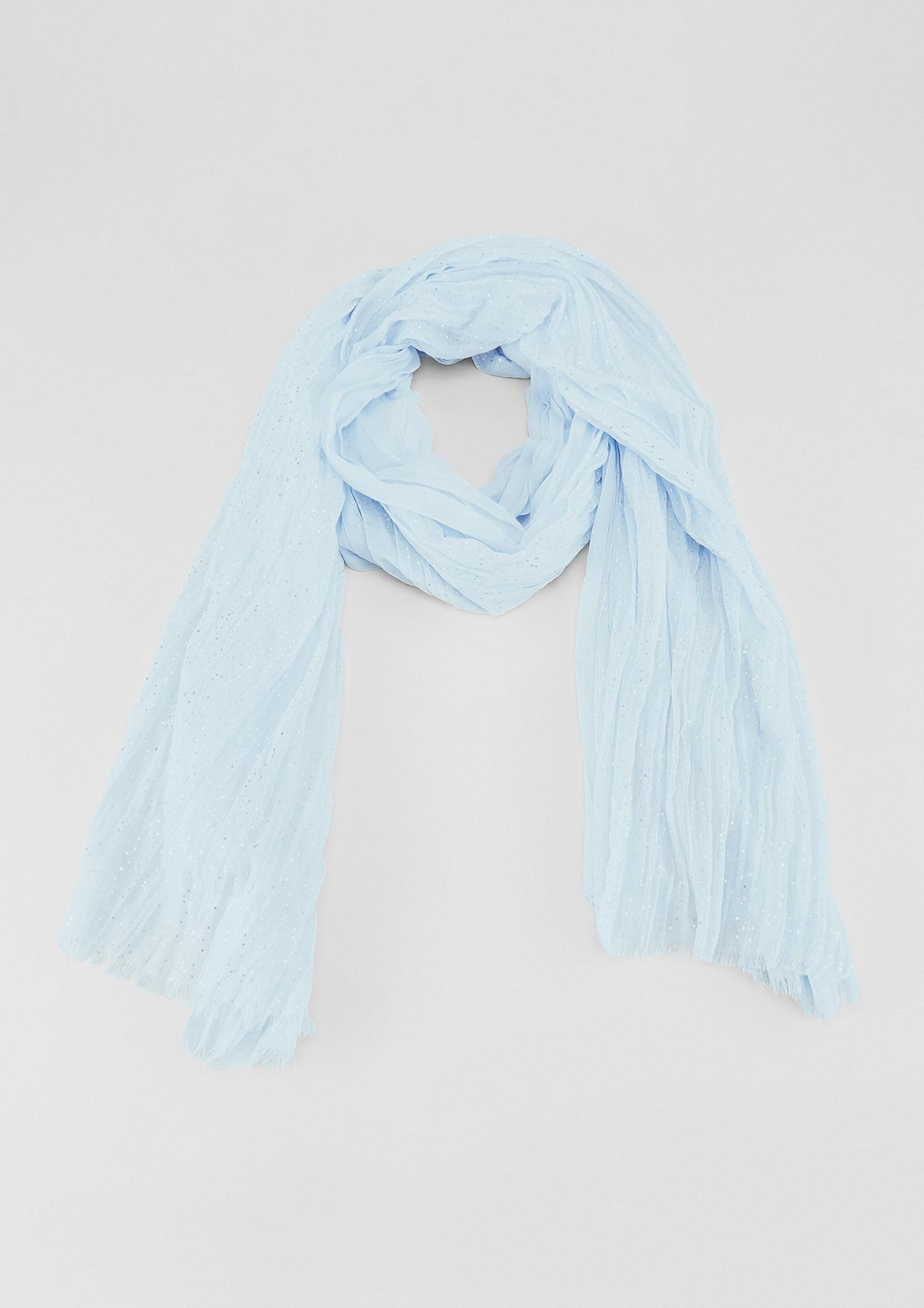 Crinkle-Schal | Accessoires > Schals & Tücher | Blau | 100% polyester | s.Oliver
