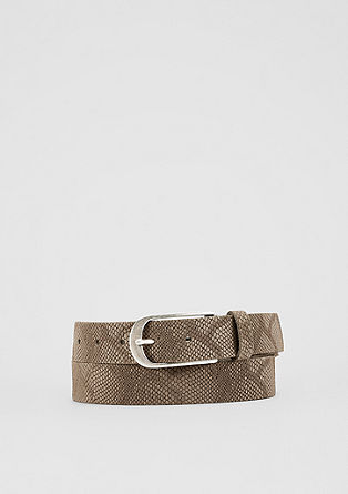 Embossed leather belt from s.Oliver