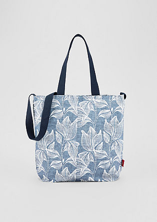 Shopper with a floral print from s.Oliver