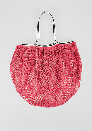 Mesh shopper with striped straps from s.Oliver