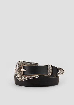 Leather belt with a vintage finish from s.Oliver