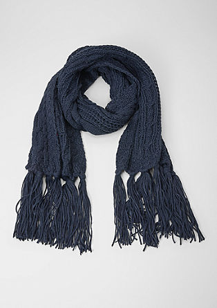 Scarf with a cable pattern from s.Oliver