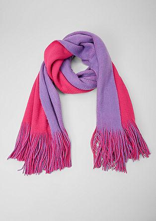 Sjaal in bicolour look