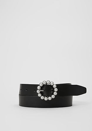 Leather belt with decorative beads from s.Oliver