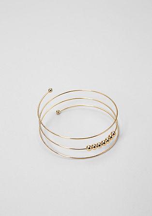 Spiral bracelet with balls from s.Oliver