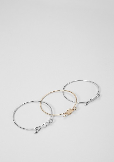 Sun, feather & infinity bracelet set from s.Oliver