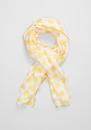 Lightweight scarf with polka dots from s.Oliver