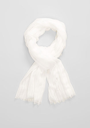 Delicate scarf with textured stripes from s.Oliver