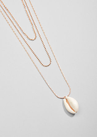 Layered necklace with shell from s.Oliver