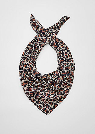 Scarf with a leopard print pattern from s.Oliver