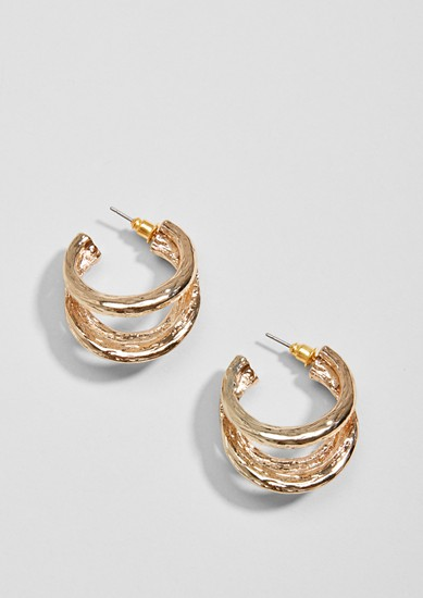 Shiny triple hoop earrings from s.Oliver