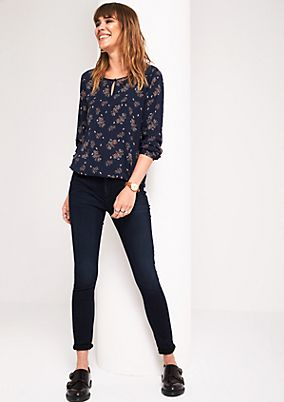 Casual long sleeve blouse with an all-over pattern from s.Oliver