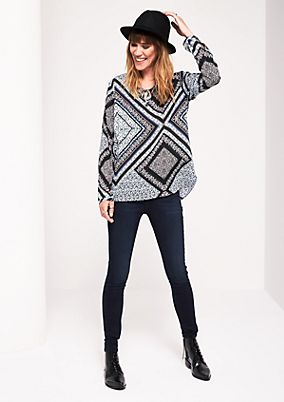 Lightweight long sleeve blouse with an all-over pattern from s.Oliver