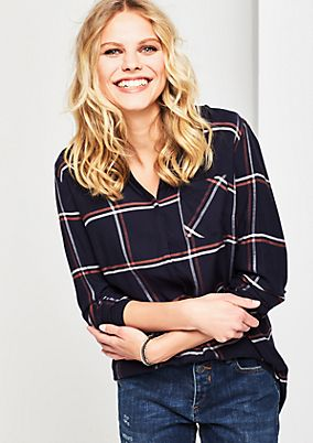 Casual blouse in a checked look from s.Oliver