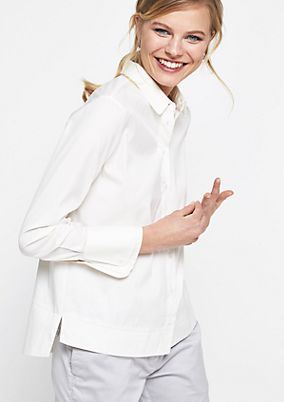 Classic shirt blouse with sophisticated details from comma