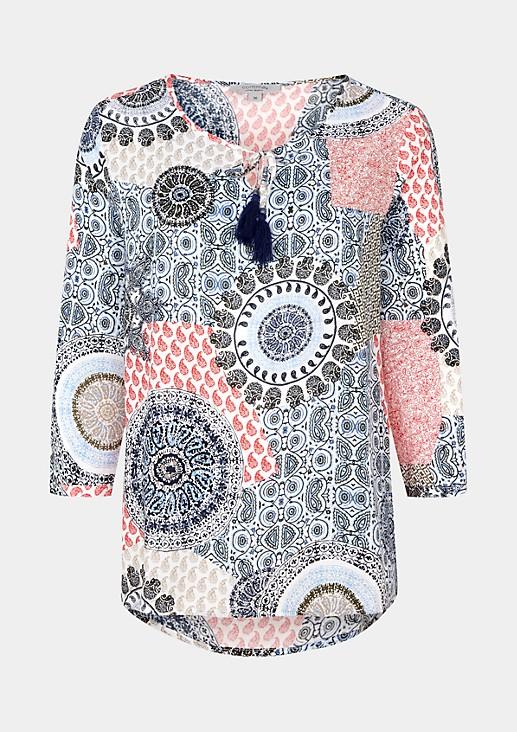 Lässige 3/4-Arm Bluse mit schönem Alloverprint