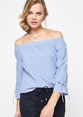 Off-the-shoulder blouse with vertical stripes from comma