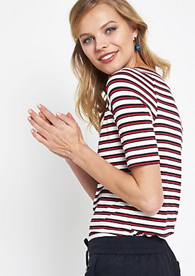 Short sleeve jersey top with a classic stripe pattern from comma
