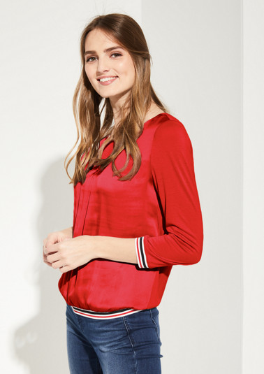 Casual top in a material mix from comma