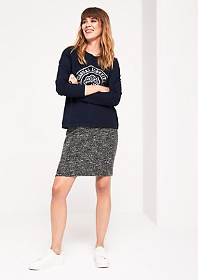 Classic sweatshirt with a front print from comma