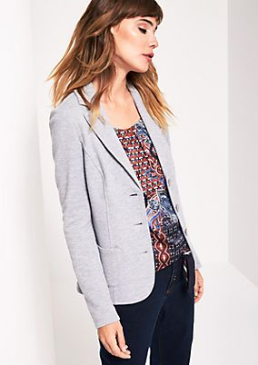 Casual jersey blazer with sophisticated details from comma