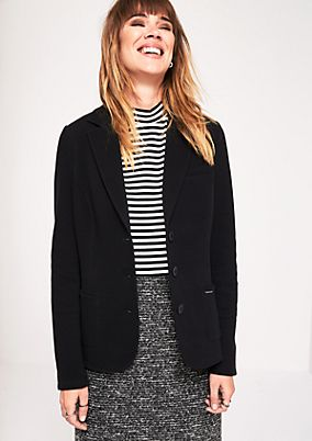 Casual jersey blazer with sophisticated details from s.Oliver