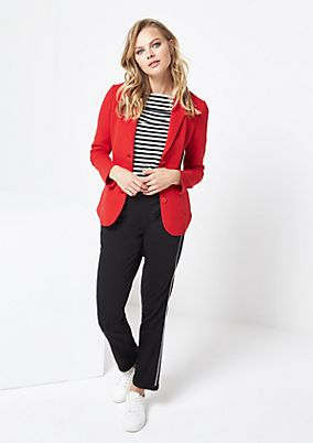 Sporty blazer in a ribbed look from comma