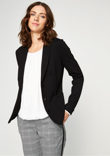 Lightweight business blazer with patch pockets from comma