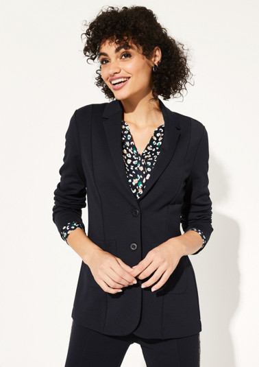 Jersey blazer with patch pockets from comma