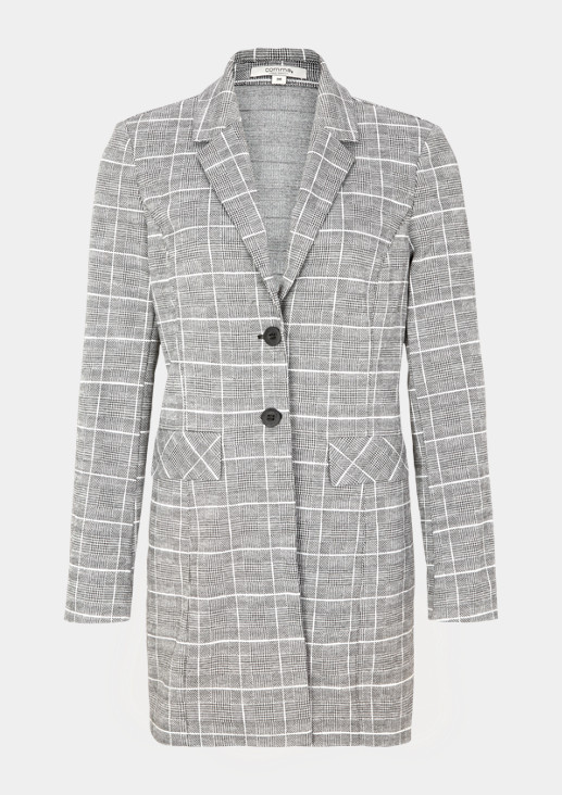 Long, checked blazer from comma