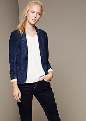 Cool and casual blazer with a honeycomb effect from s.Oliver