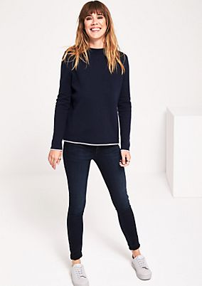 Soft knit jumper with sophisticated details from s.Oliver