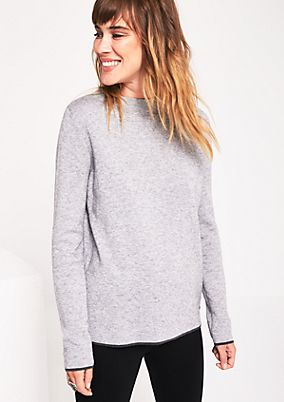 Soft knit jumper with sophisticated details from comma