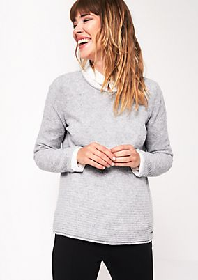 Soft knit jumper in a mix of patterns from s.Oliver