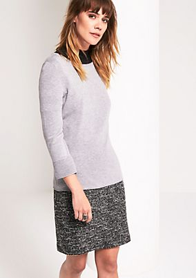 Casual knit jumper with 3/4-length sleeves from comma