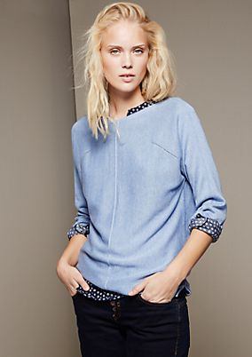 Classic knit jumper with pretty details from s.Oliver