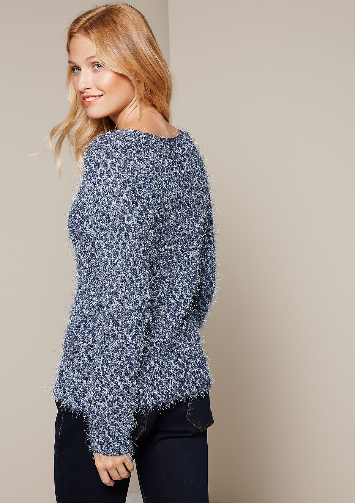 Beautiful autumn jumper with sparkly long yarn from s.Oliver
